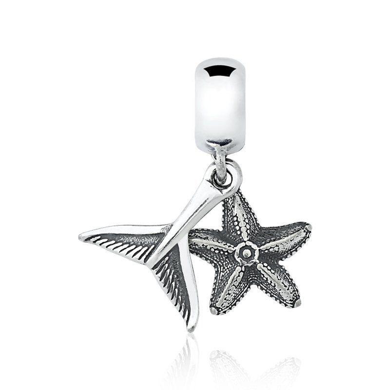 Berloque Rabo de Sereia e Estrela Do Mar