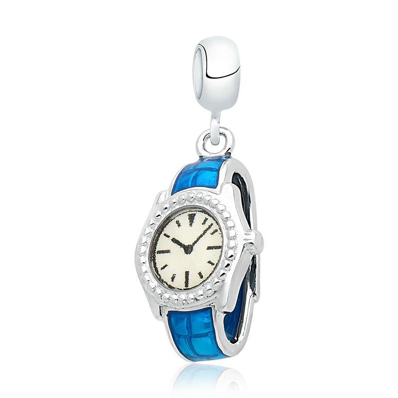Berloque Relógio Azul
