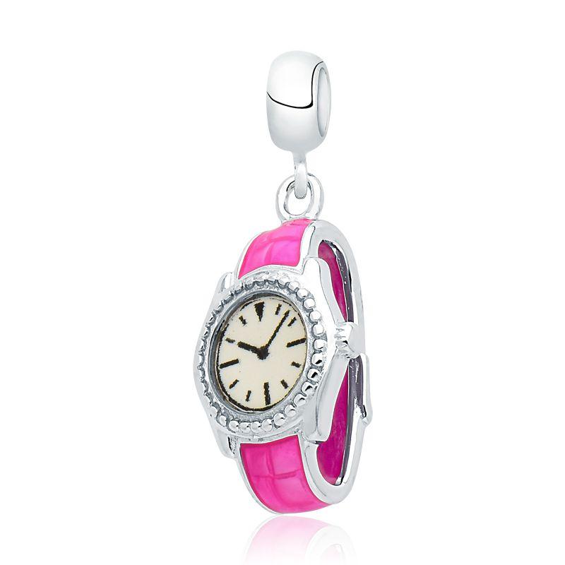 Berloque Relógio Rosa