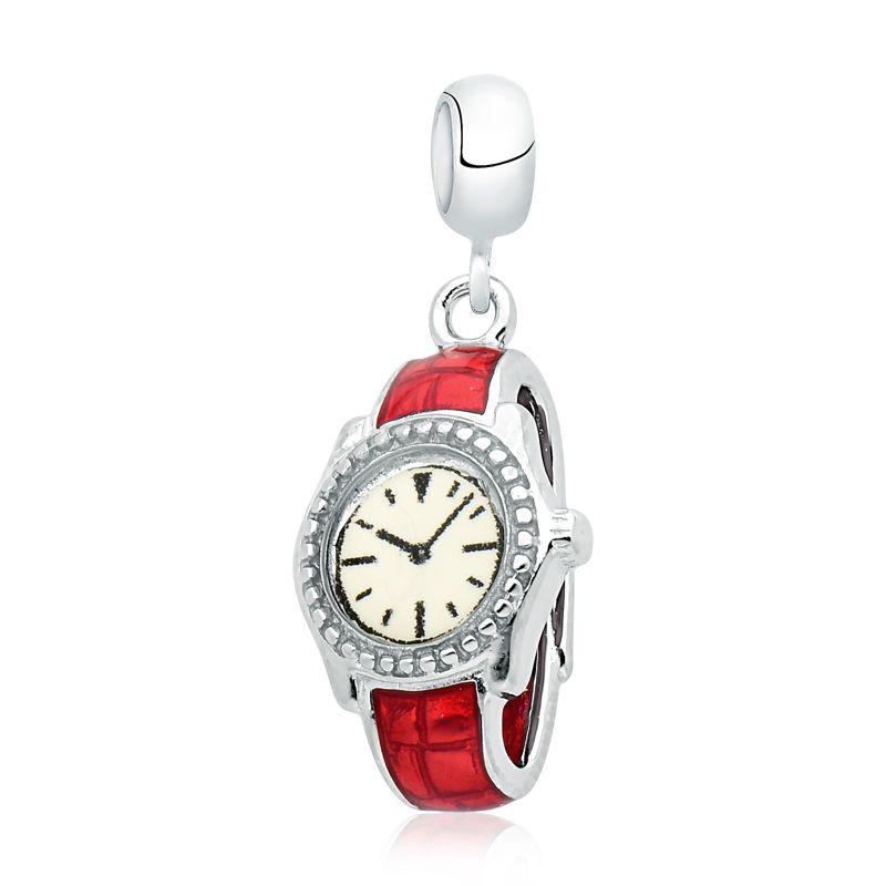 Berloque Relógio Vermelho