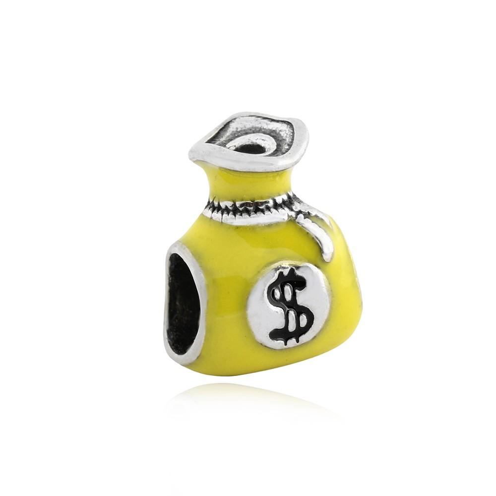 Berloque Saco De Dinheiro Amarelo