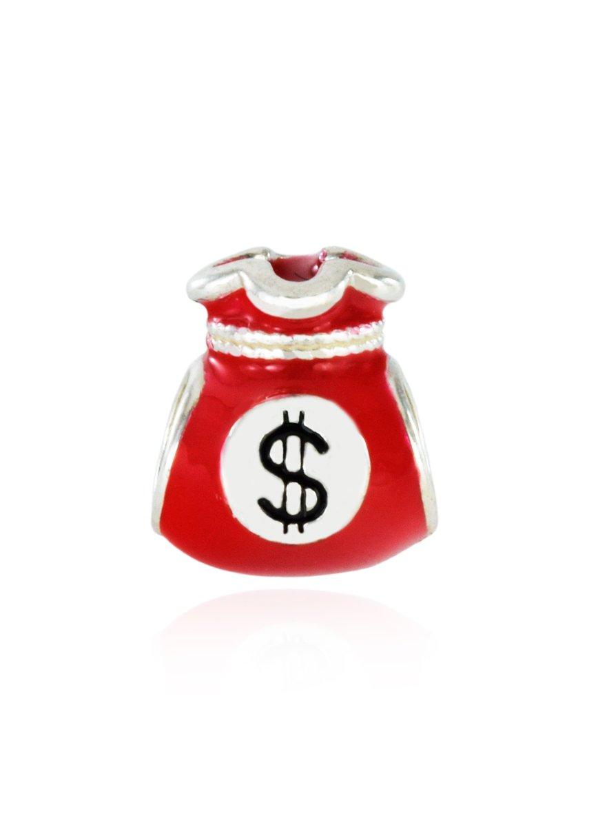 Berloque Saco De Dinheiro Vermelho