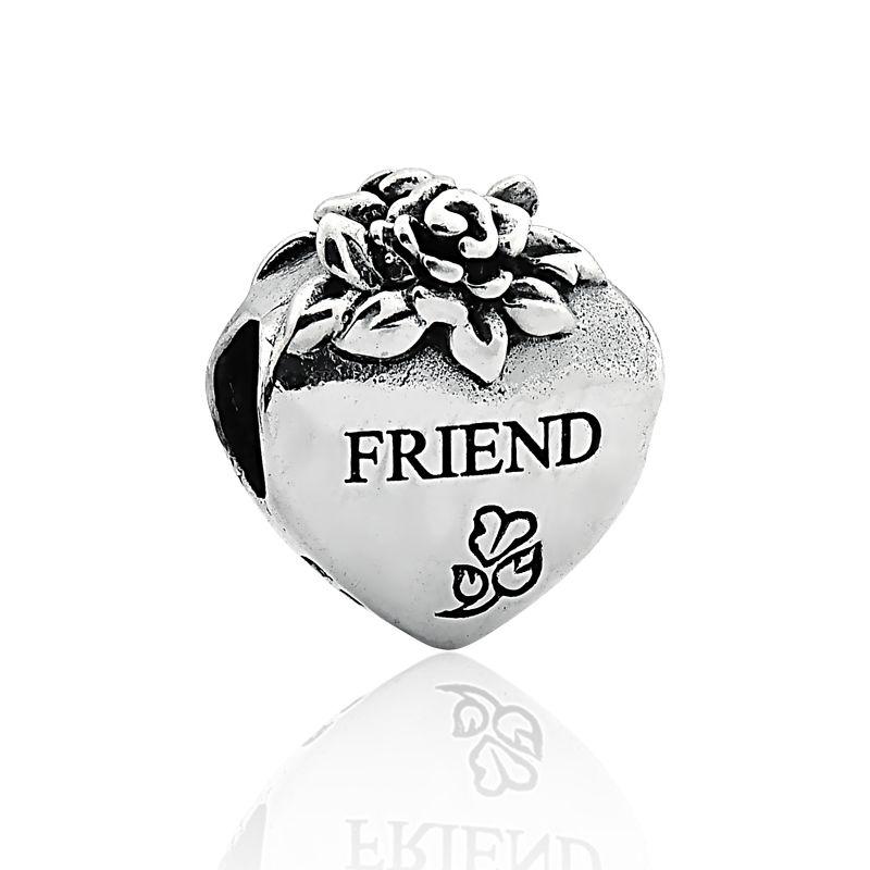 Berloque Separador Coração Florido Friend