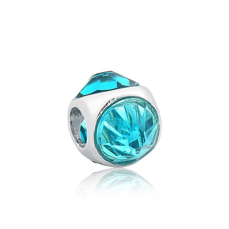 Berloque Separador Cristal Azul