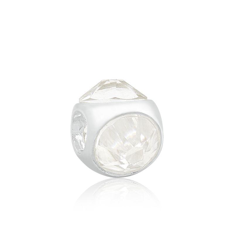 Berloque Separador Cristal Branco