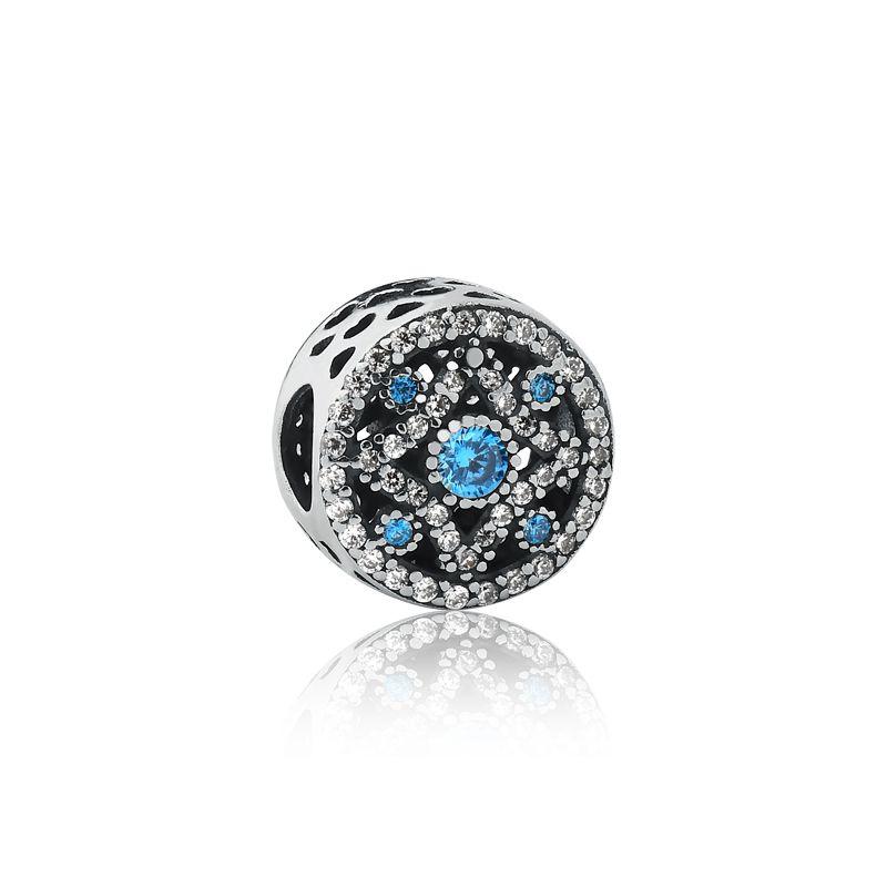 Berloque Separador  Azul Brilhante