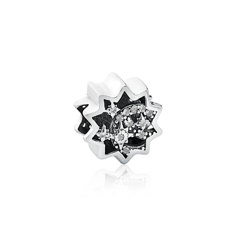 Berloque Separador Estrelas Cadentes Branca