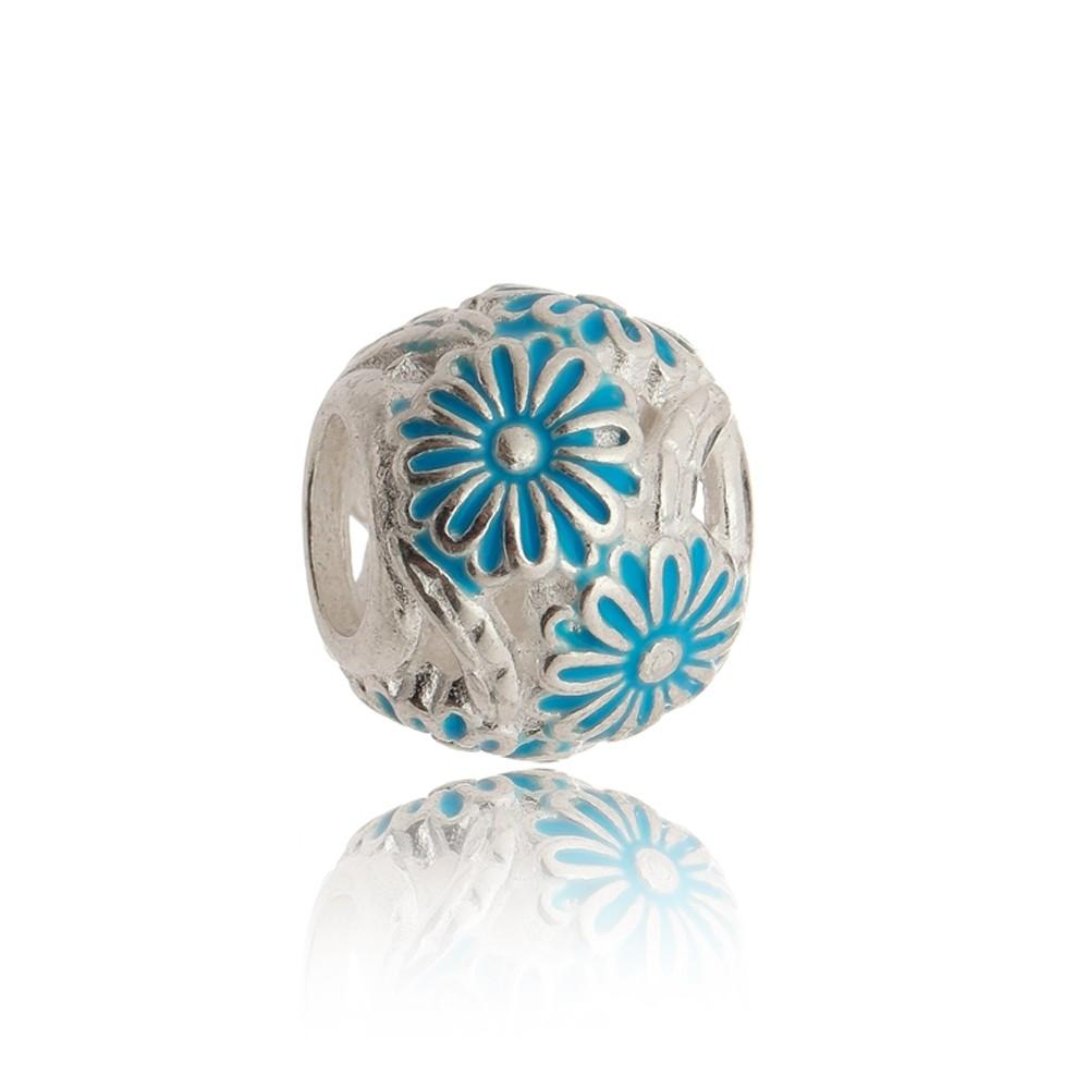 Berloque Separador Flor Azul