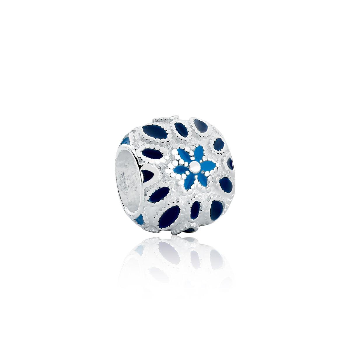 Berloque Separador Florzinha Azul