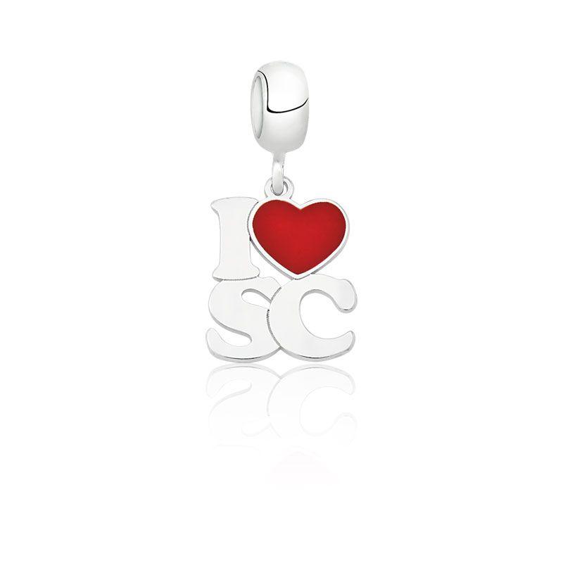 Berloque I Love SC - Eu Amo SC
