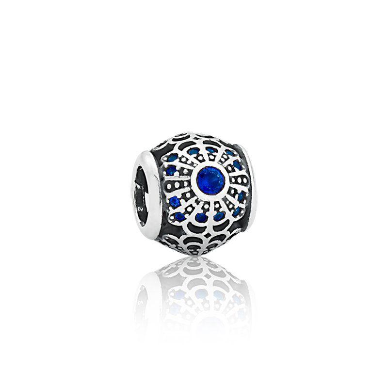 Berloque Separador Mandala Azul