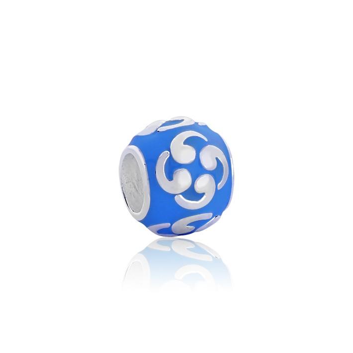 Berloque Separador Símbolo Tomoe Azul