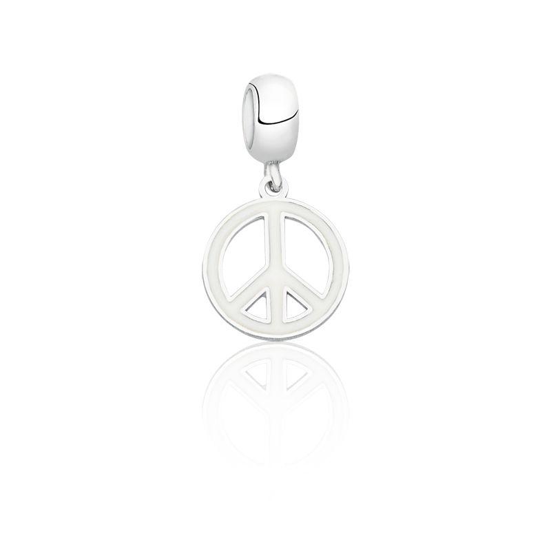 Berloque Simbolo Da Paz Branco