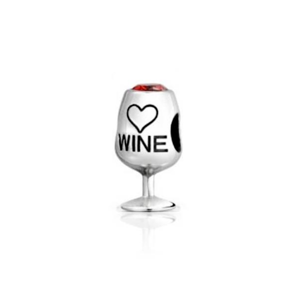 Berloque Taça De Vinho