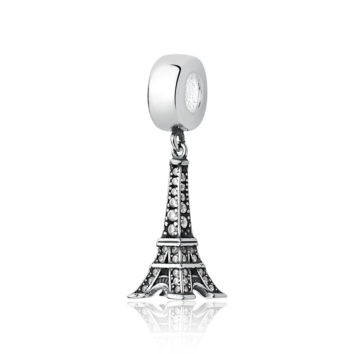 Berloque Torre Eiffel Brilhante