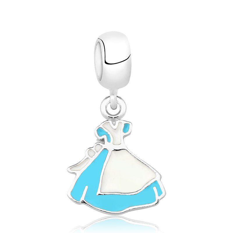Berloque Vestido Alice Azul