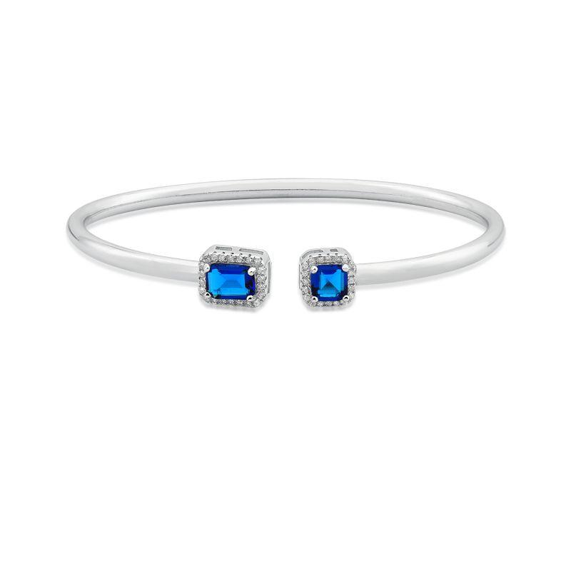 Bracelete Aberto Cristal Azul