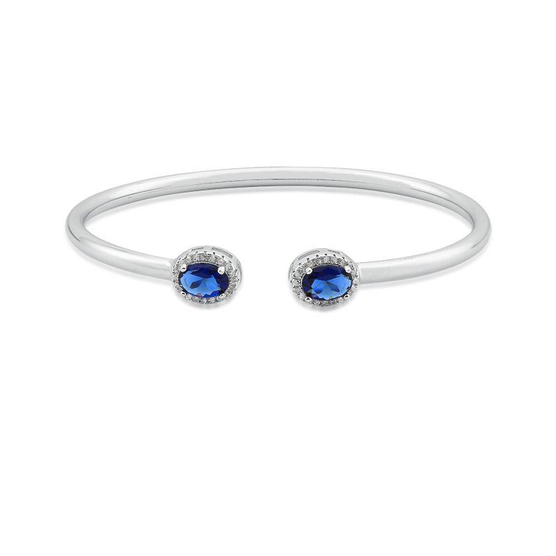 Bracelete Aberto Cristal Azul Escuro