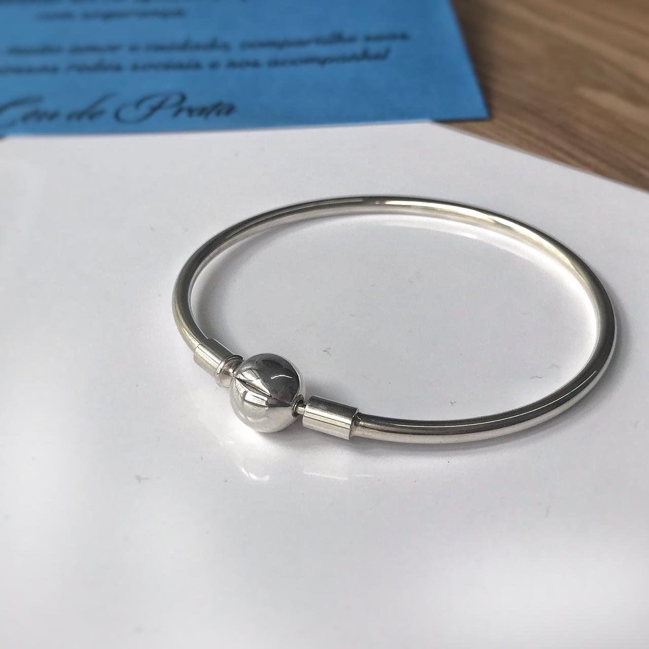 Bracelete Para Berloque Liso