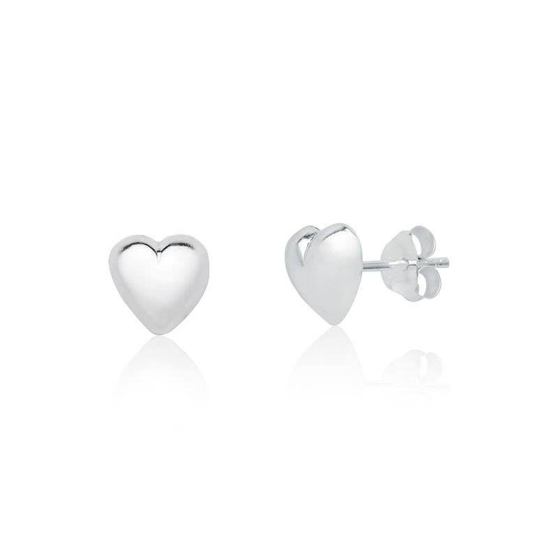 Brinco Coração Liso 8 MM