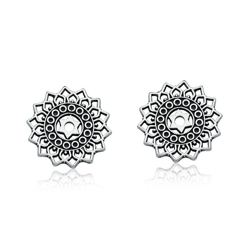 Brinco Círculos e Estrela Bali - Mandala