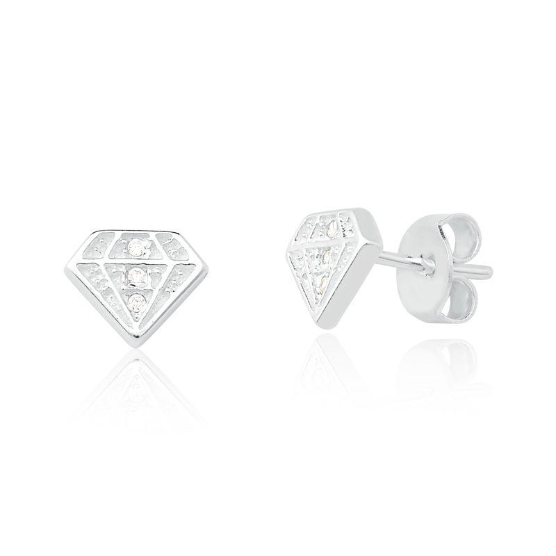 Brinco Diamante Zircônia