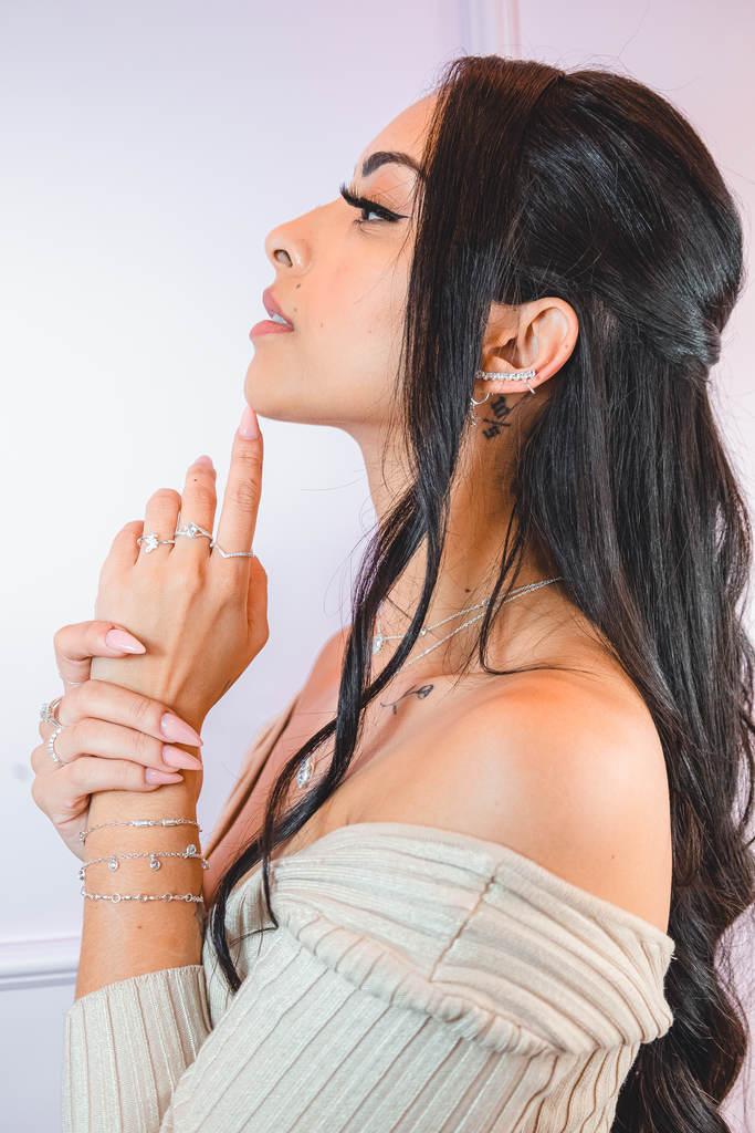 Brinco Ear Cuff Cristais - Be Free