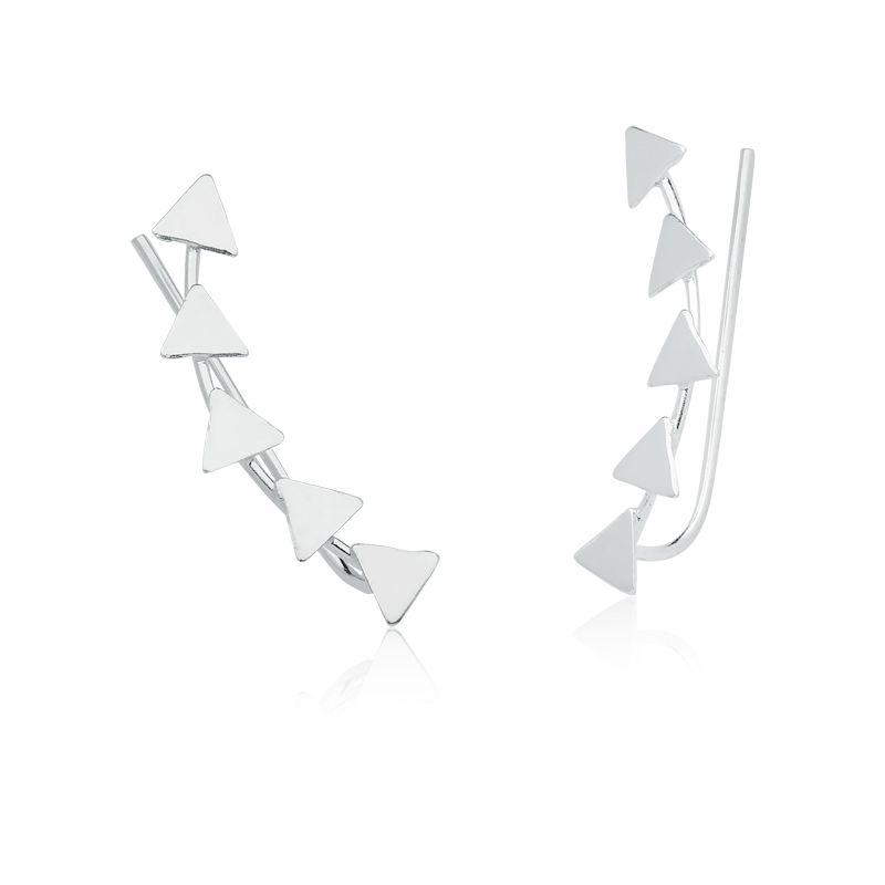 Brinco Ear Cuff Triângulos