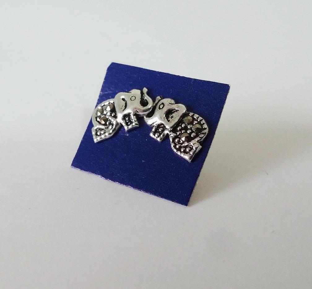 Brinco Elefante Com Marcassita