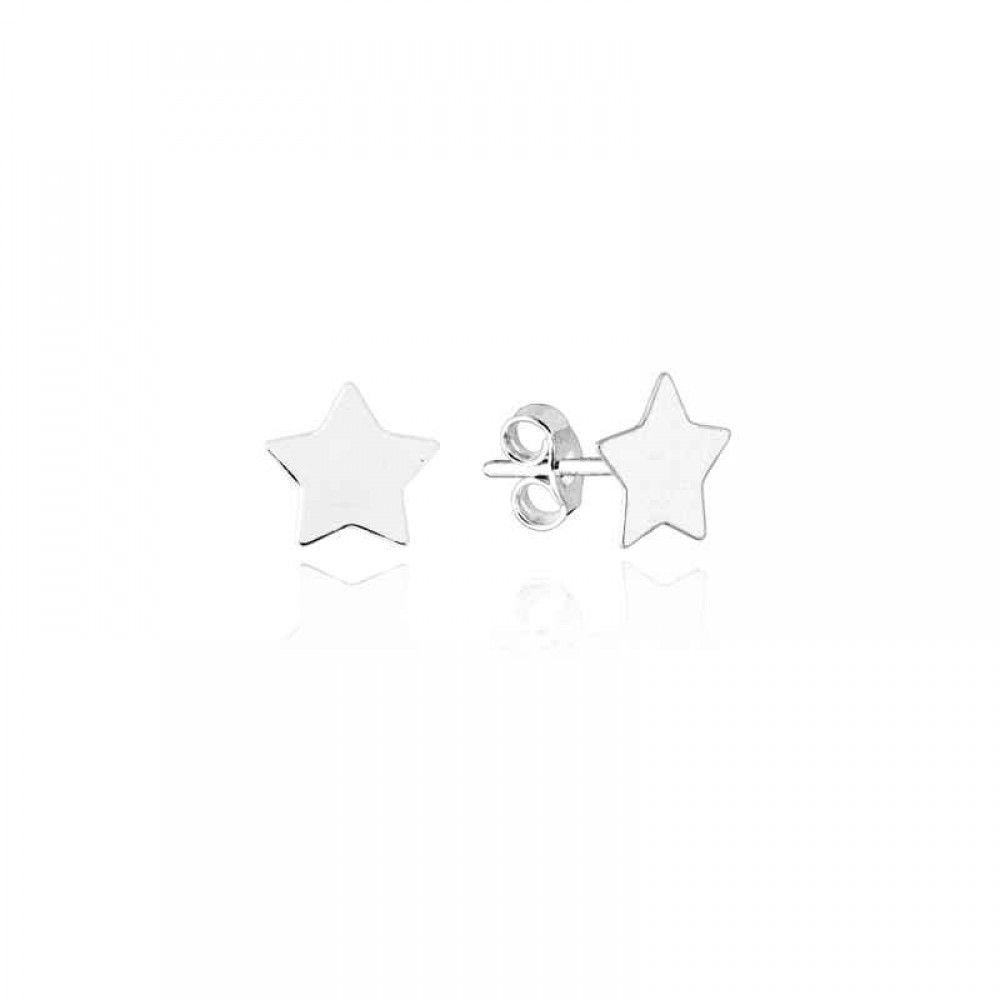 Brinco Estrela Lisa 10 MM