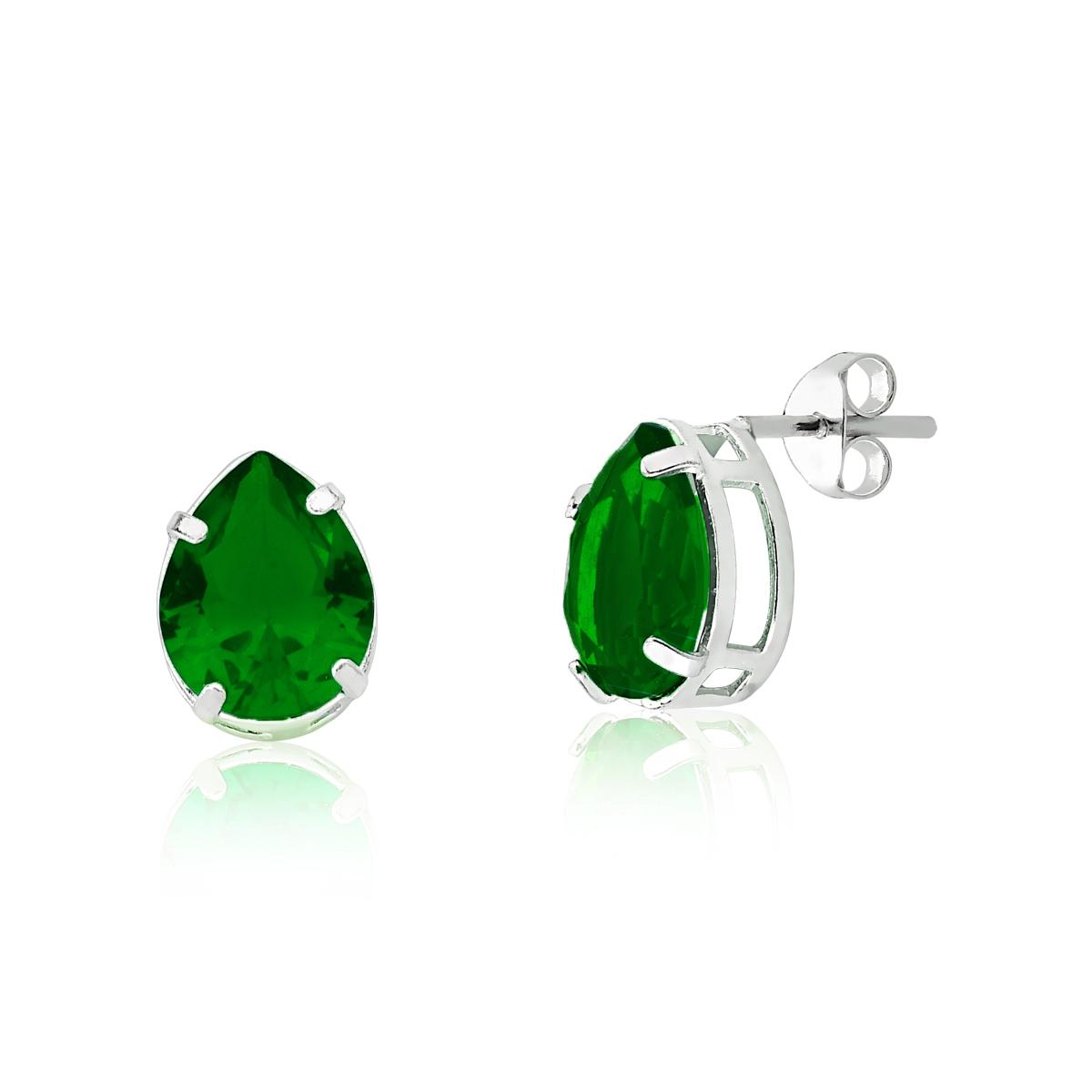 Brinco Gota Verde Escuro 10 MM