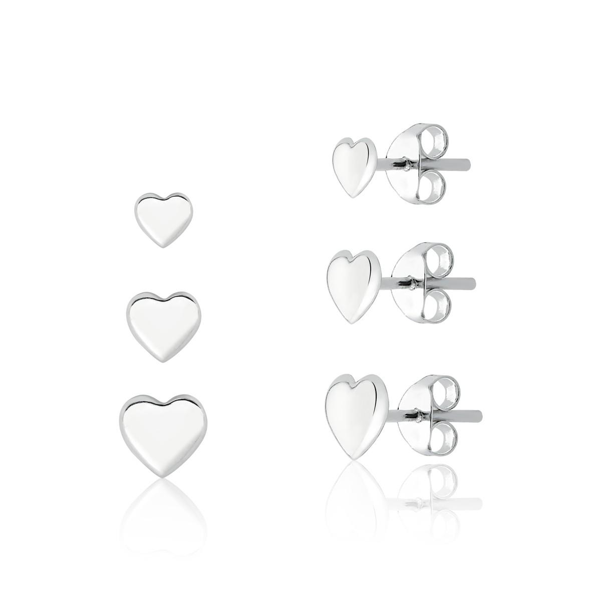 Brinco Kit 3 Corações