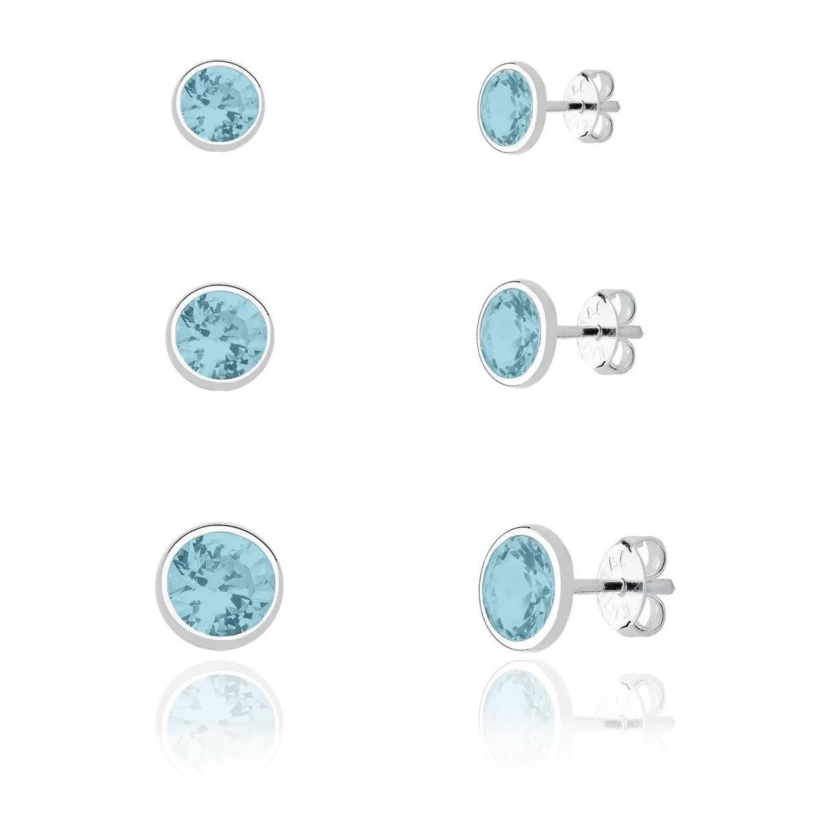 Brinco Kit Cristal Azul