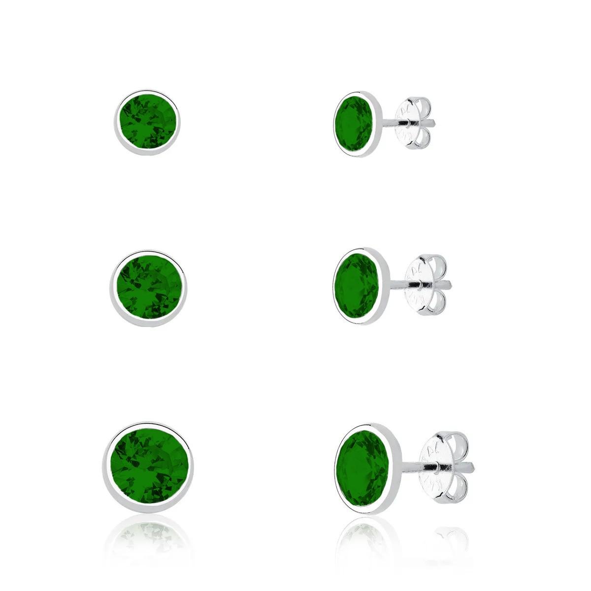 Brinco Kit Cristal Verde Escuro