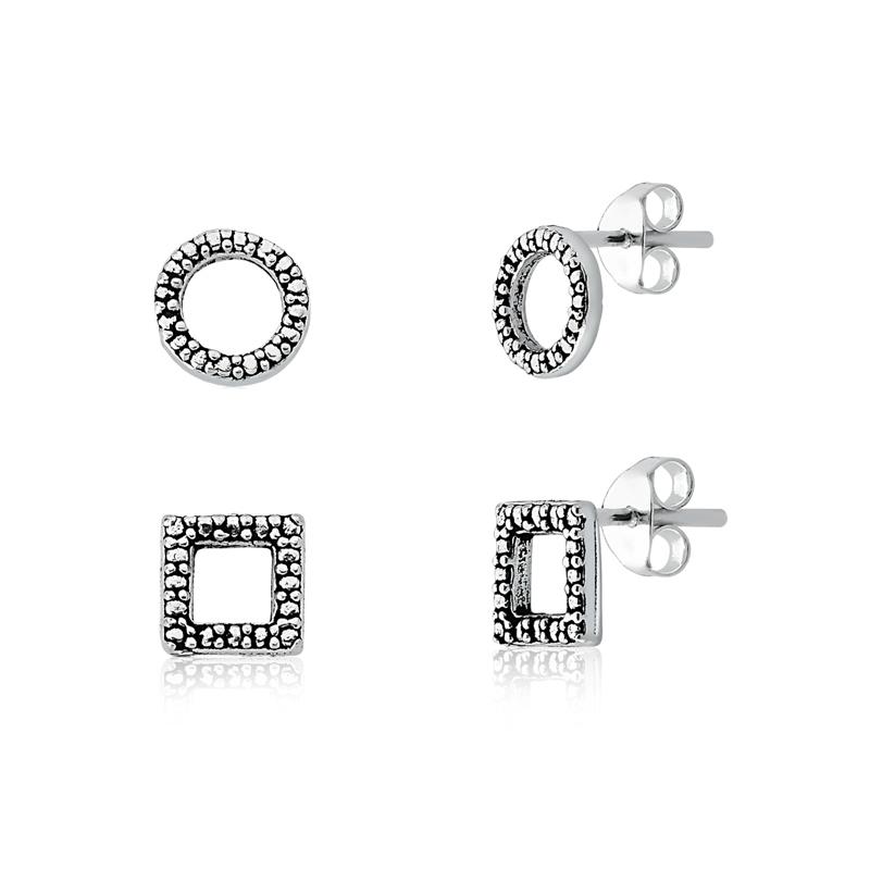 Brinco Kit Formas Círculo e Quadrado