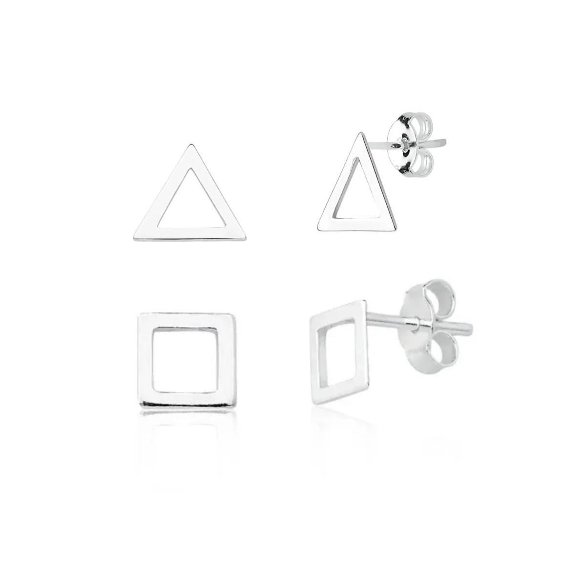 Brinco Kit Triângulo e Quadrado