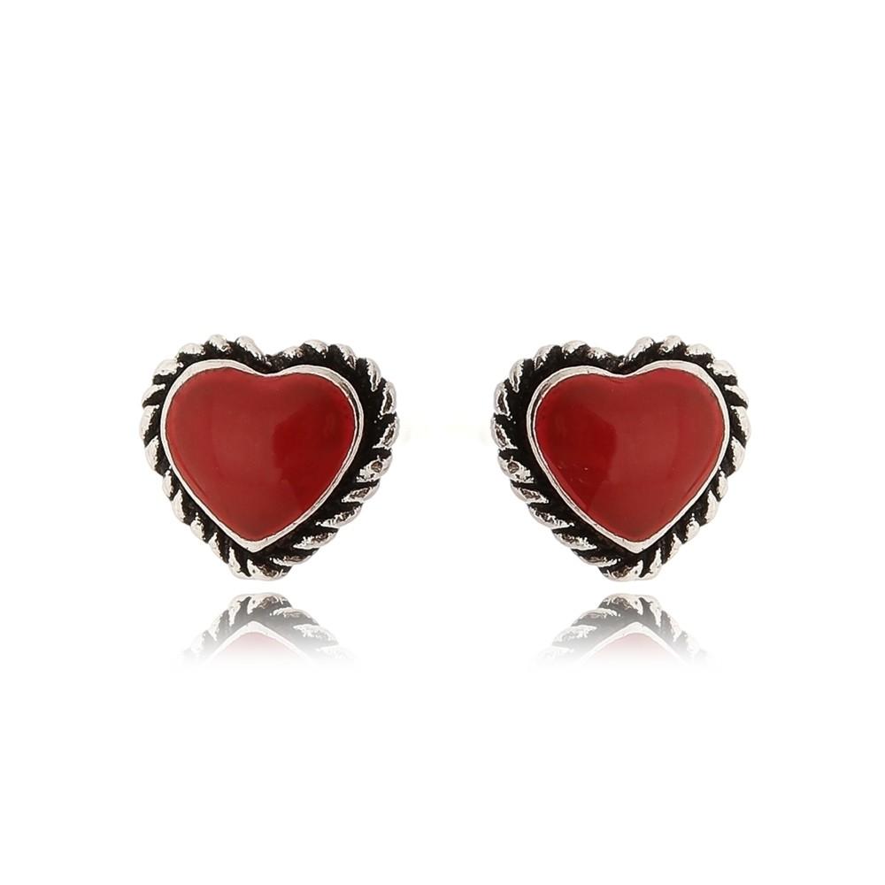 Brinco Mini Coração Vermelho