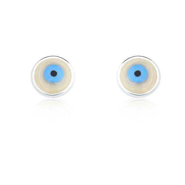 Brinco Olho Grego Perolado