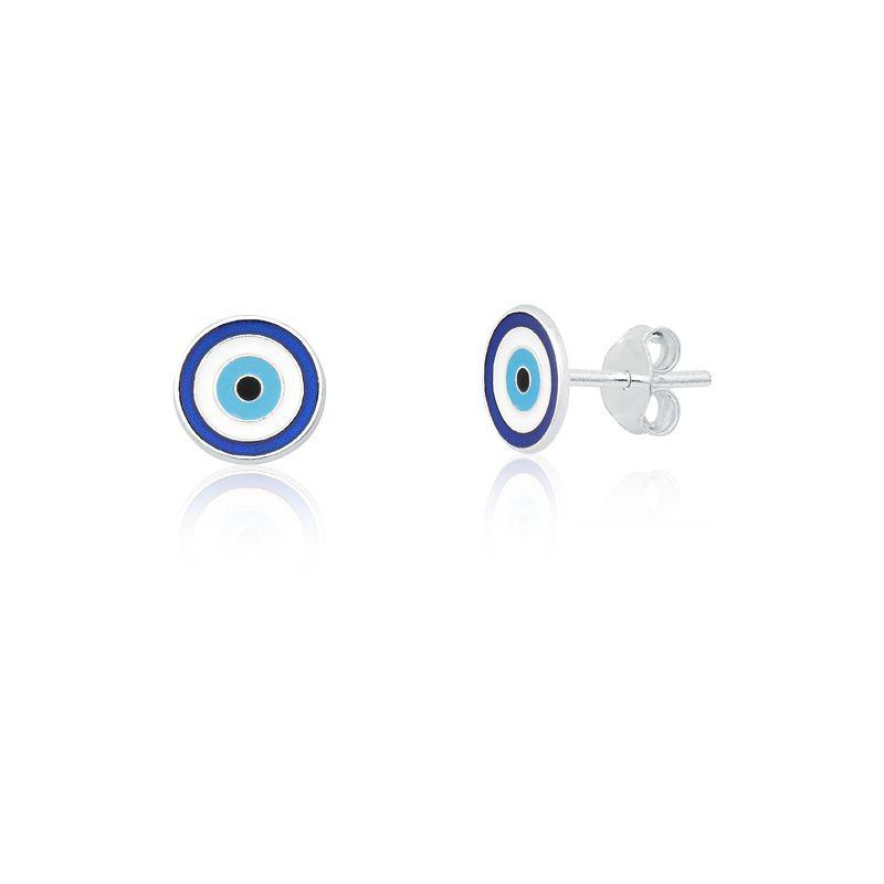 Brinco Olho Grego Azul