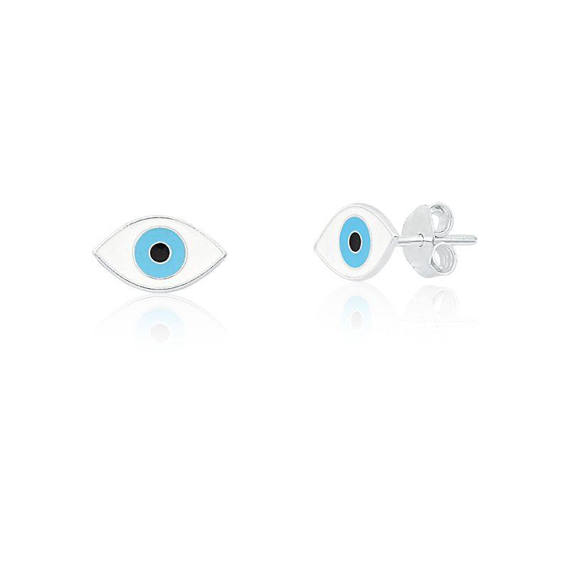 Brinco Olho Grego Branco