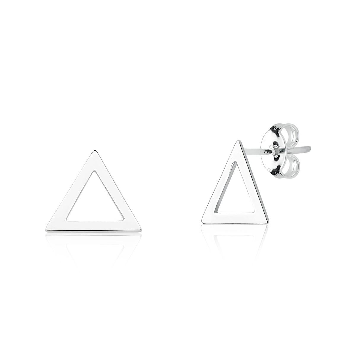 Brinco Triângulo Vazado 10 MM