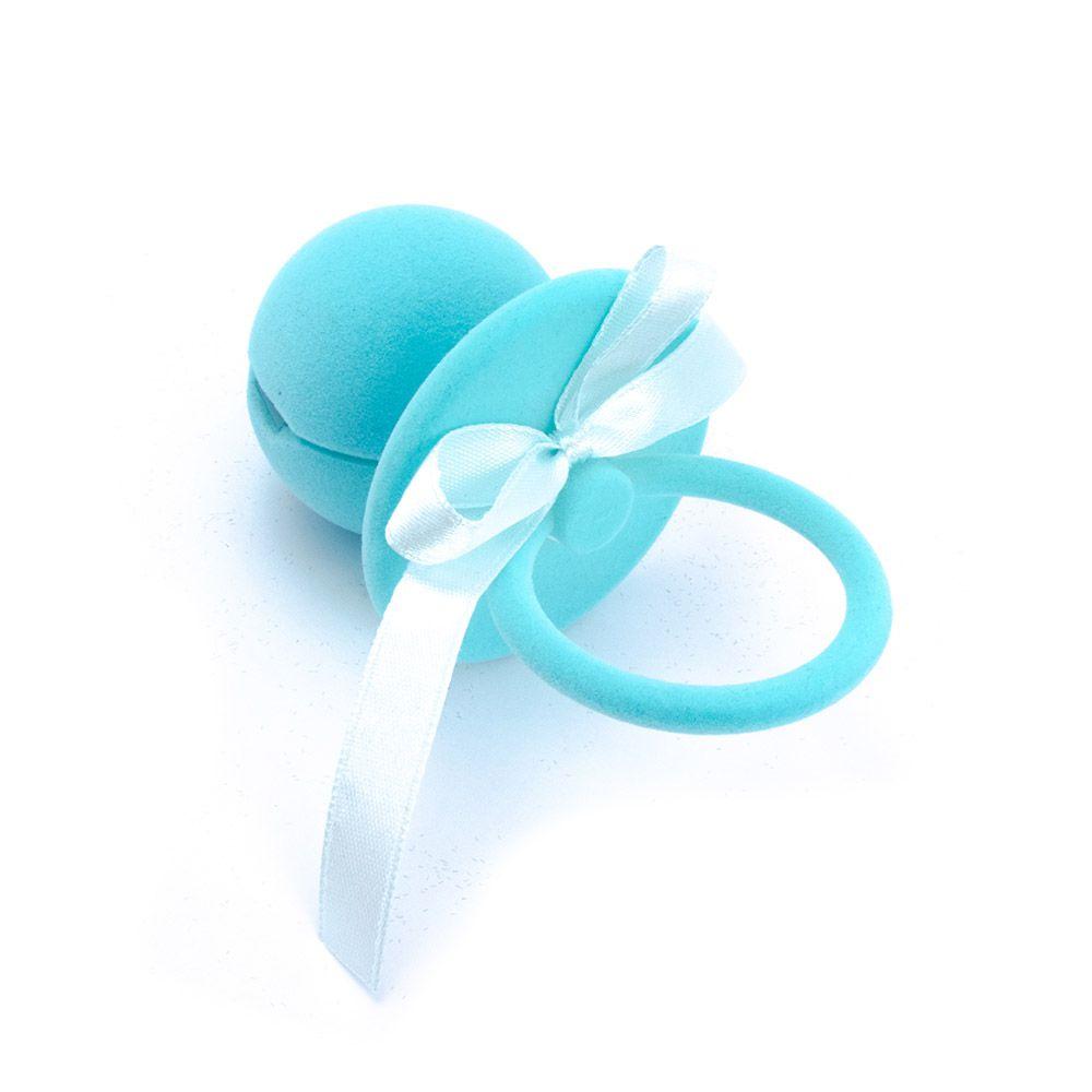 Caixa de Presente Chupeta Azul.