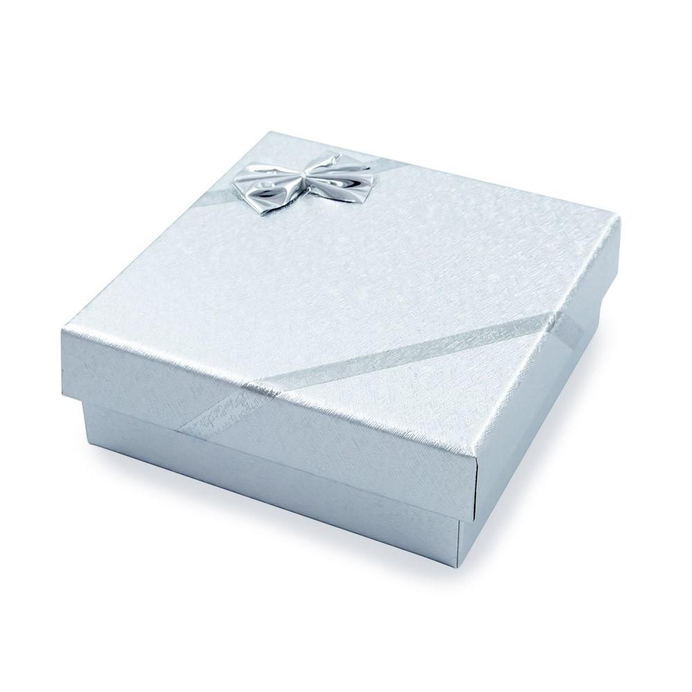Caixa de Presente Prata Para Conjunto G