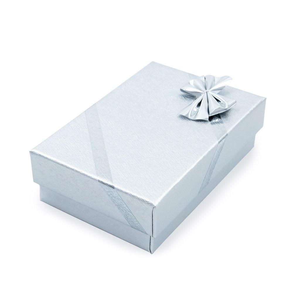 Caixa de Presente Prata Para Conjunto P