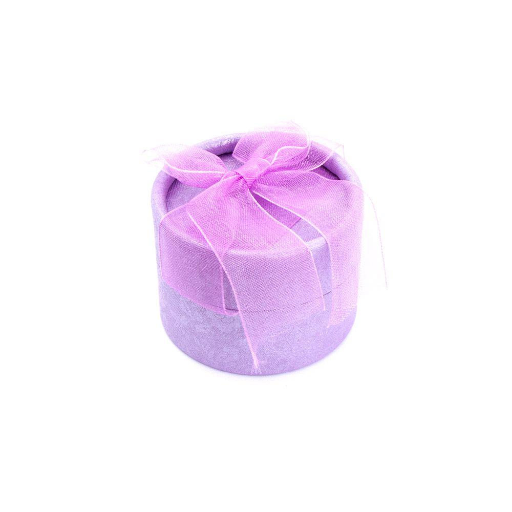 Caixa de Presente Redonda Lilás