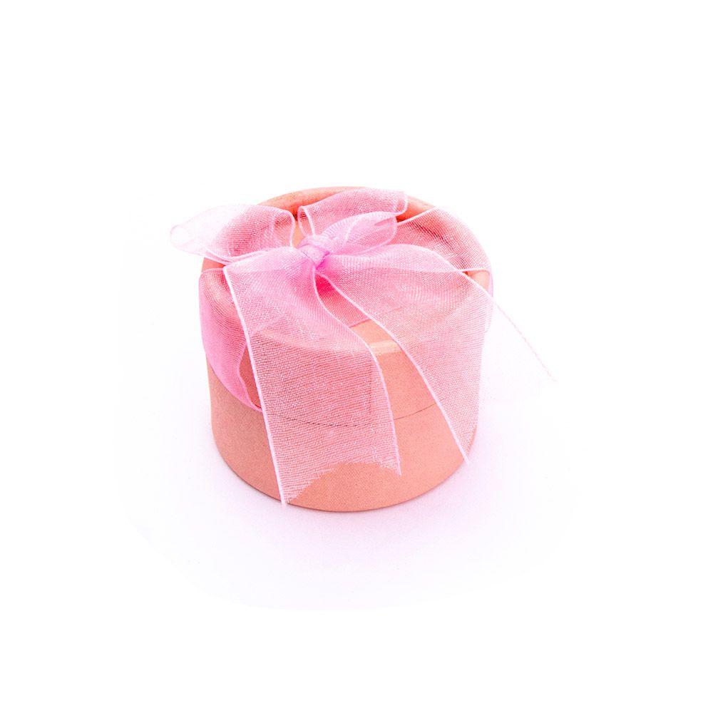 Caixa de Presente Redonda Rosa