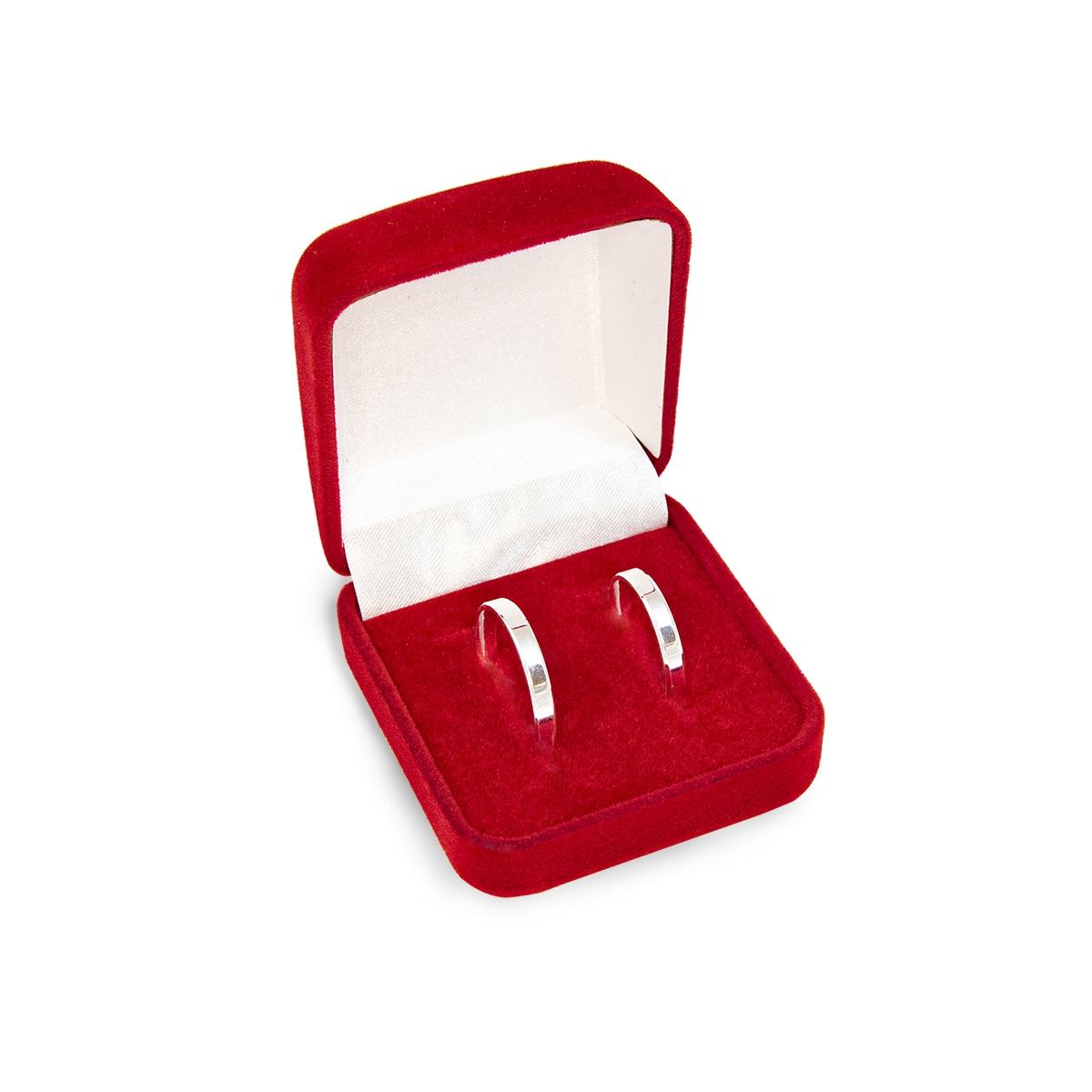 Caixa de Presente Vermelha Alianças