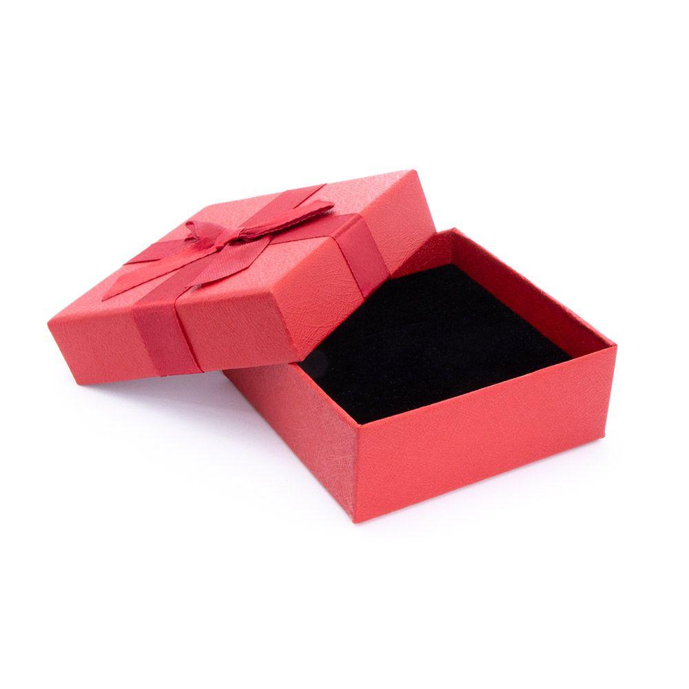 Caixa de Presente Vermelha Quadrada G