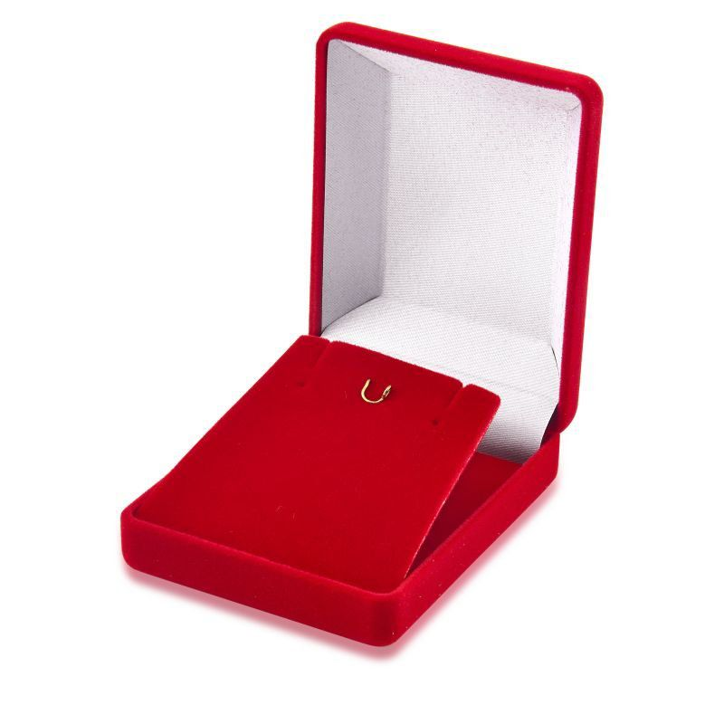 Caixa de Veludo Grande Vermelha Conjunto