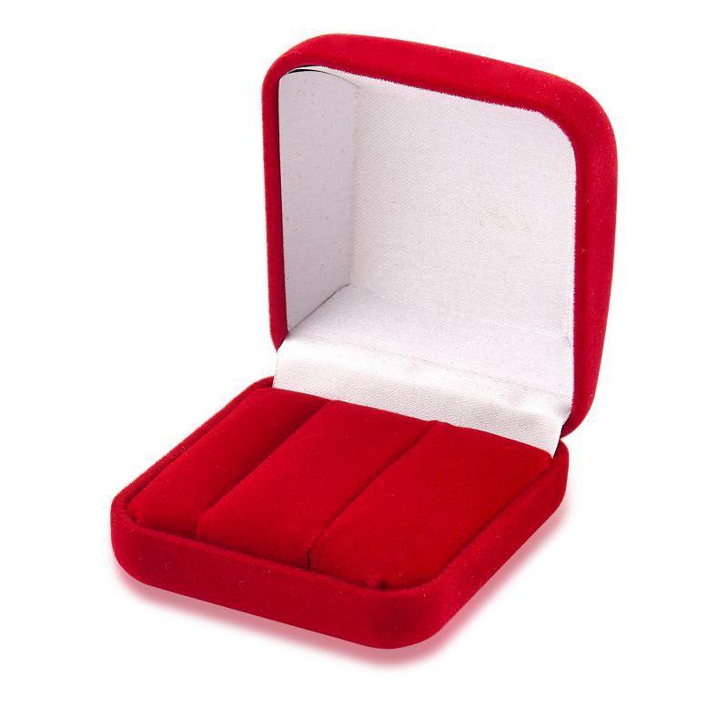 Caixa de Veludo Vermelha Aliança